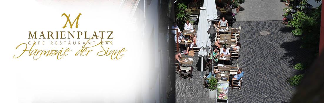 Marienplatz Cafe Restaurant Bar Würzburg Sommerluft